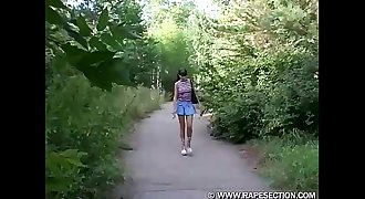young girl d in park
